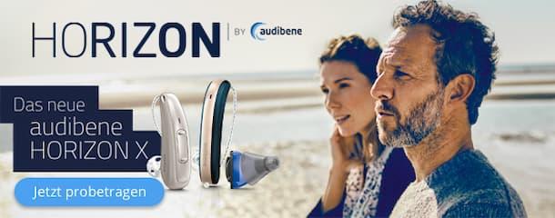 Das neue audibene Hörgerät HORIZON X – diskretes Design und klares Sprachverstehen