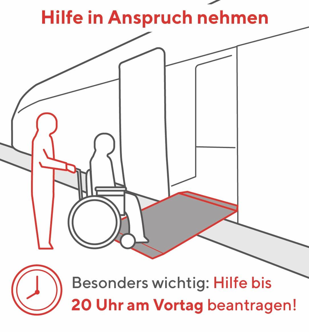 Barrierefrei mit der Bahn reisen: Nehmen Sie Hilfe in Anspruch