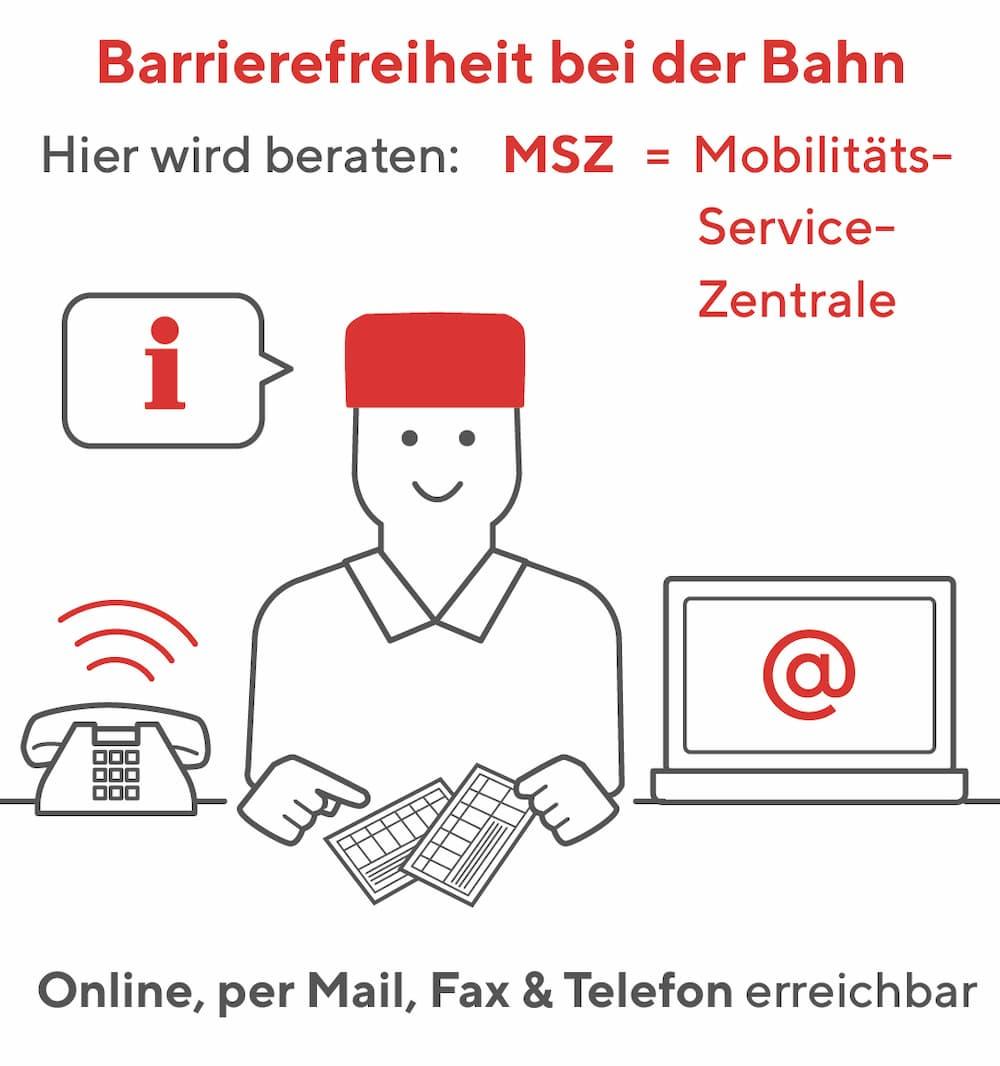 Barrierefreiheit bei der Bahn: Die Mobilitäts-Service-Zentrale berät