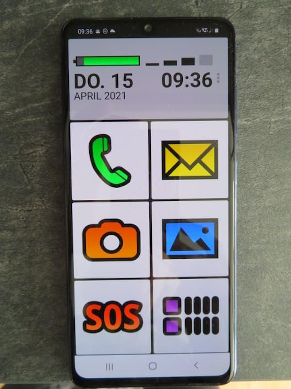 BIG Launcher App Startbildschirm