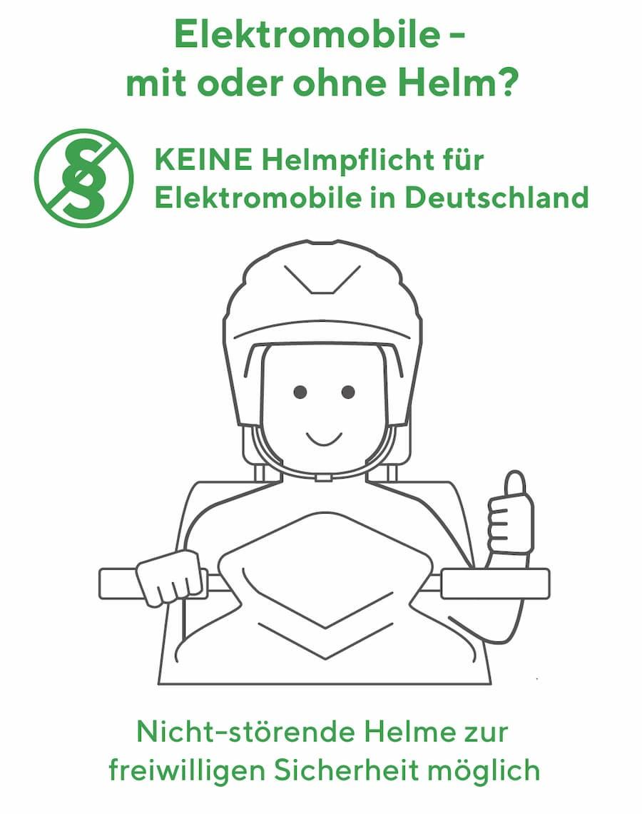 Elektromobil fahren: Es besteht keine Helmpflicht