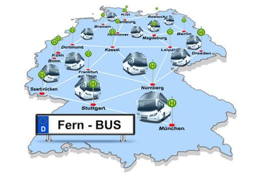 Fernbus Verkehrsnetz © i-picture, fotolia.com