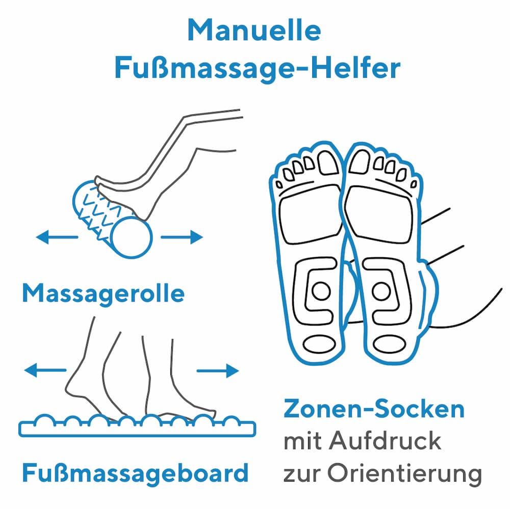 Fußmassage: Manuelle Helfer