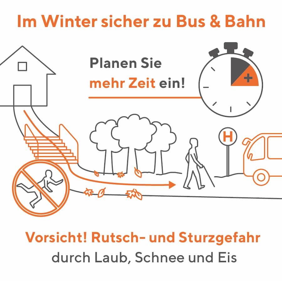 Im Herbst und Winter sicher zu Bus und Bahn