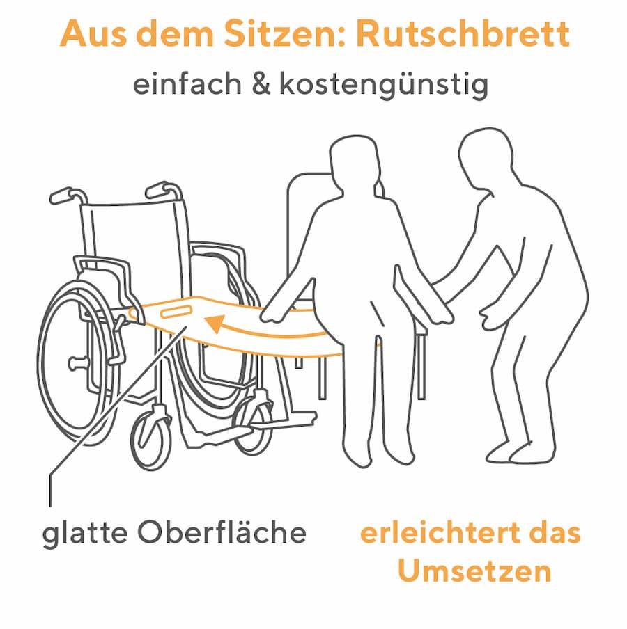 Rutschbrett: Aufsetz- und Umsetzhilfe