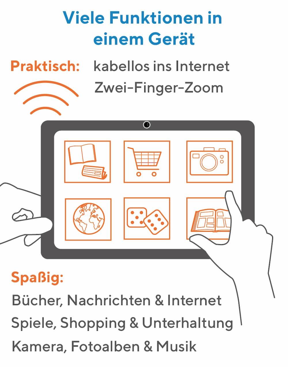 Senioren Tablet: Viele Funktionen in einem Gerät