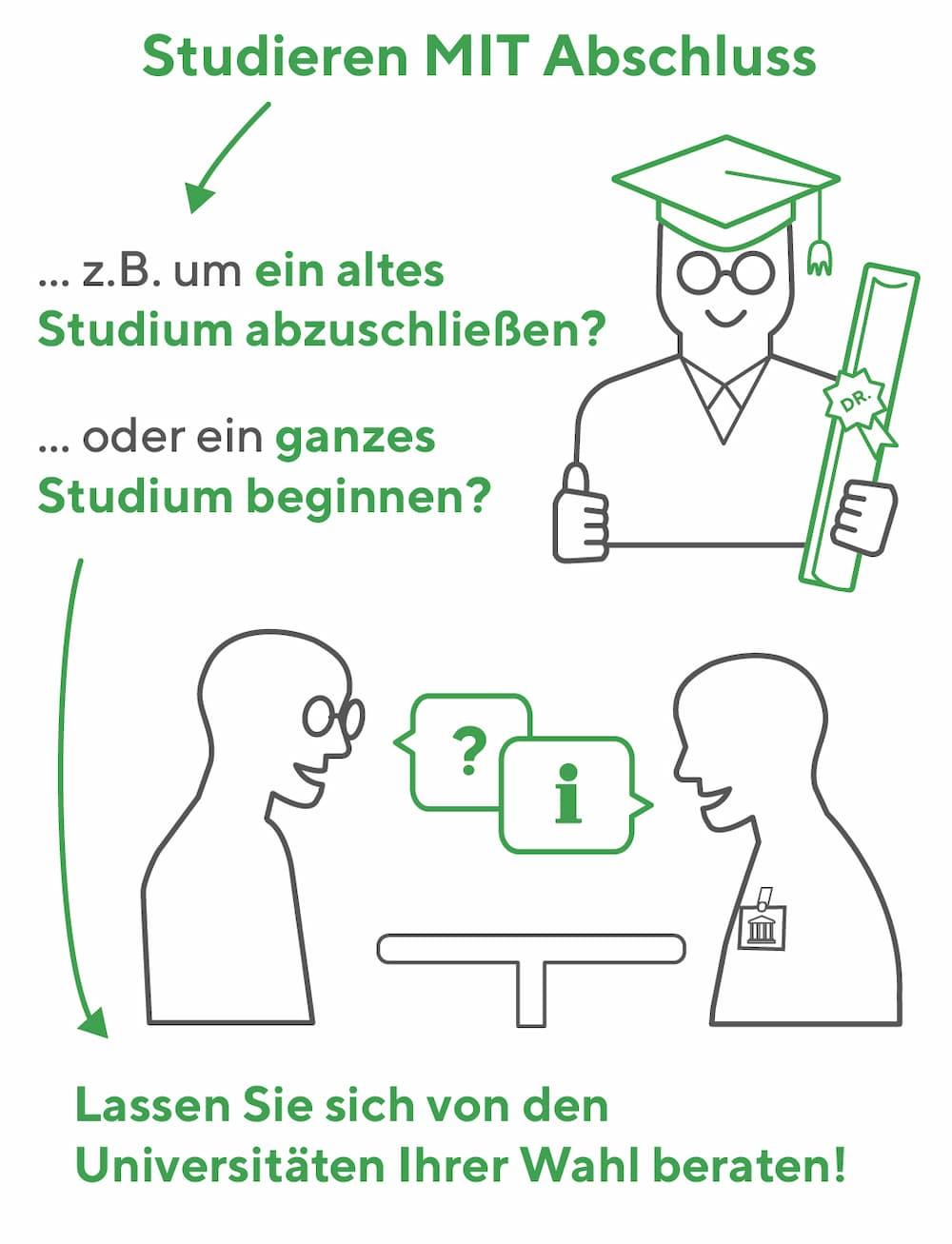 Auch möglich: Studieren mit Abschluss