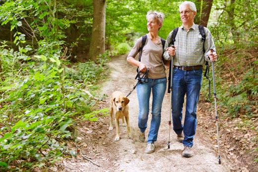 Bewegung tut gut: Wandern mit Hund © Robert Kneschke, fotolia.com