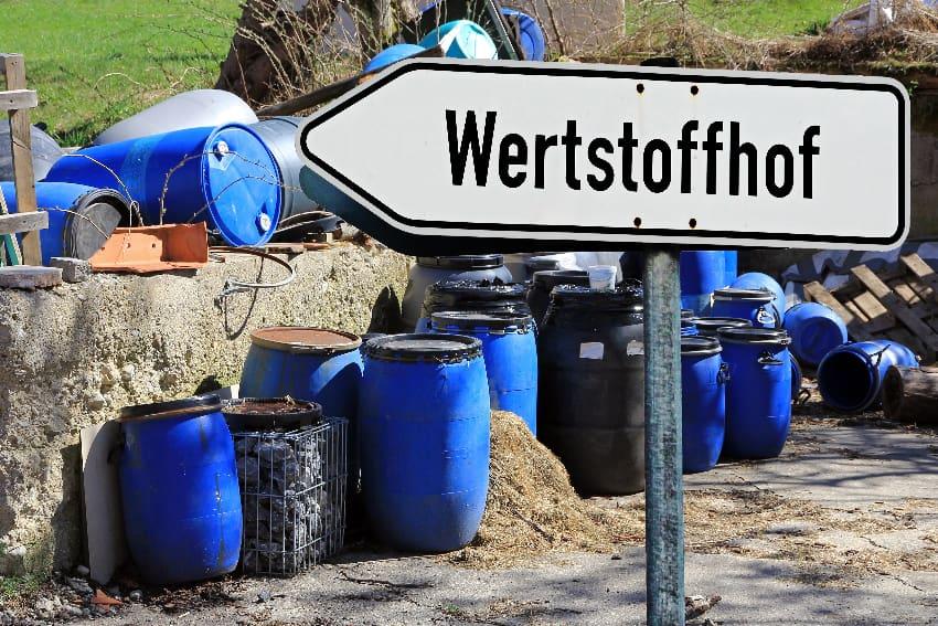 Wertstoffhof © Astrid Gas, stock.adobe.com